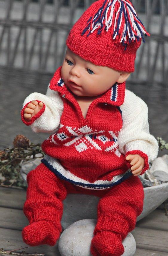 Det er så kaldt i Sotsji-fjellene og så jeg visste at hun ville trenge en nydelig varm genser! Design: Målfrid Gausel