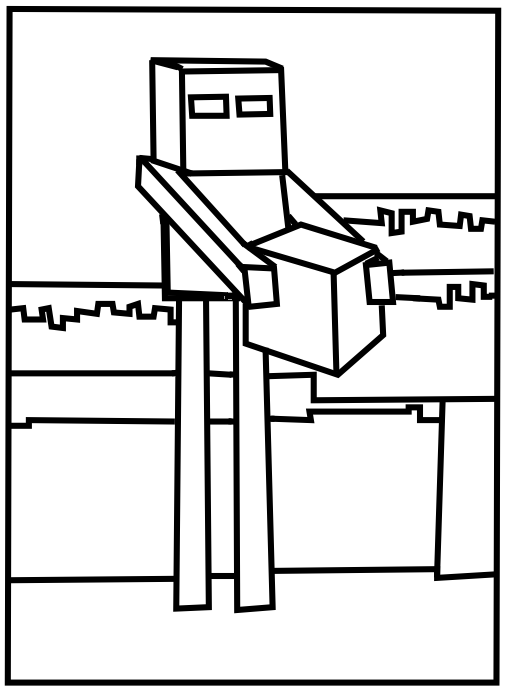 Printable Minecraft Enderman coloring