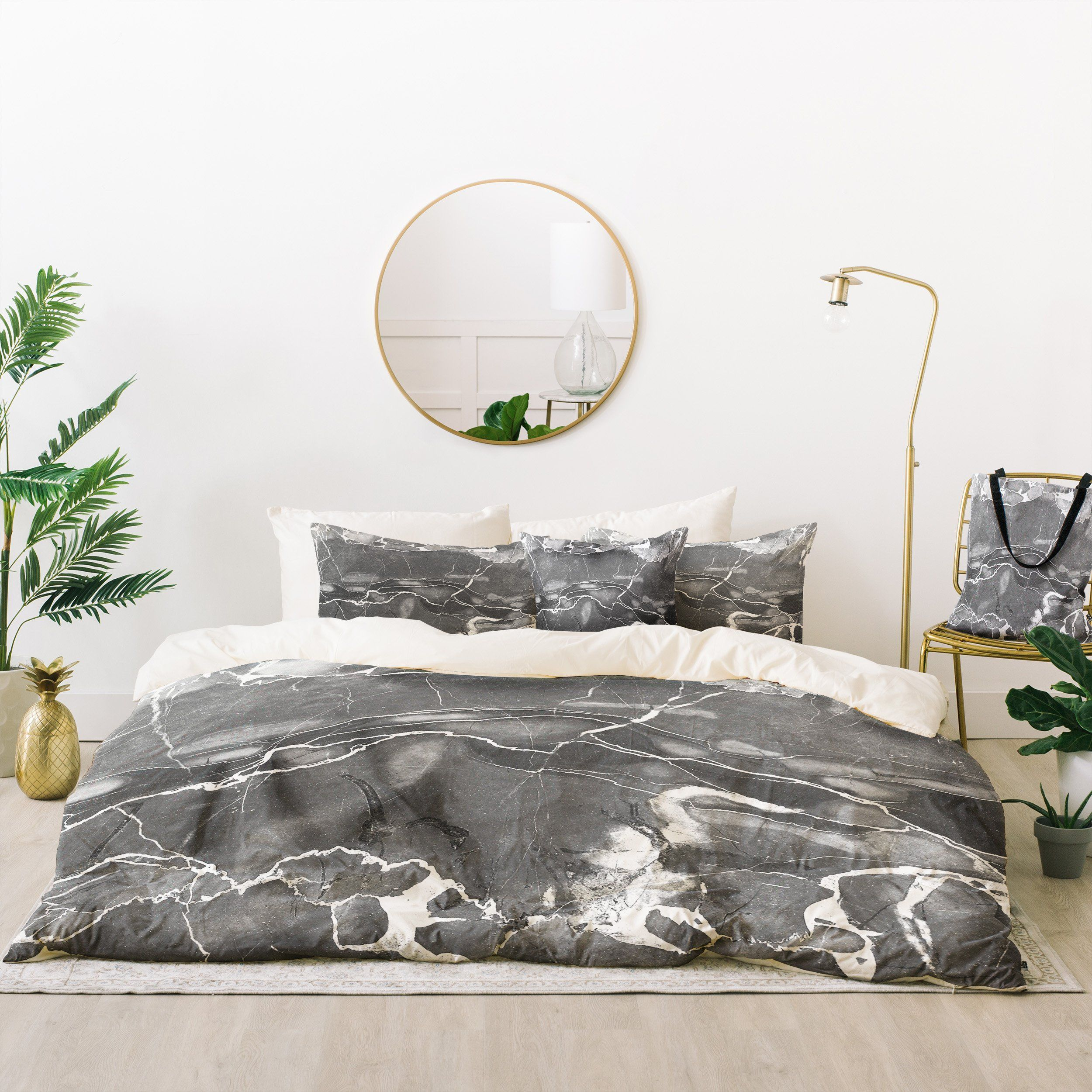 Emanuela carratoni grey marble bed in a bag marbles gray and bed