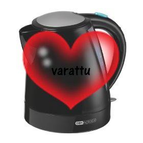 VEDENKEITIN OBH Nordica Futura Kettle Black (29,90€) [ei oo niin justiinsa, vaikkei oiskaa just tuo malli :D]