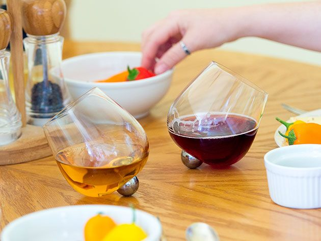 These Wine Glasses Prevent Spills In Style Wine Glass Glass Wine