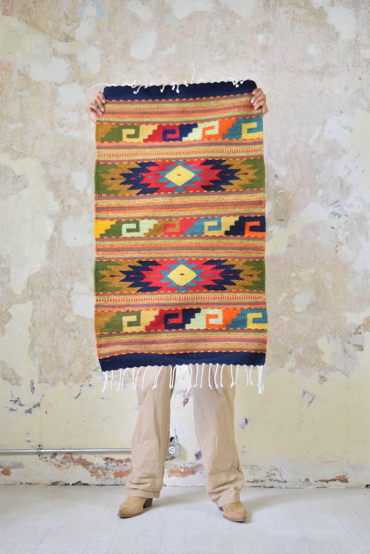 Mexican Rug Oaxacan Woven In