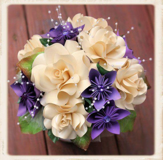 Paper Flower Bouquet, origami bouquet | Origami bouquet, Paper flowers, Paper bouquet
