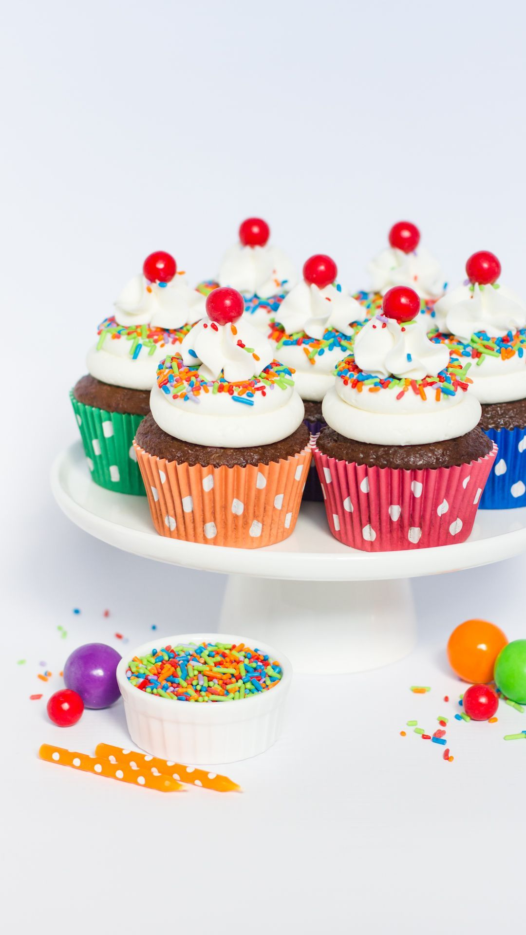 Our Classic Bake Bright Greaseproof Cupcake Liners In Primary