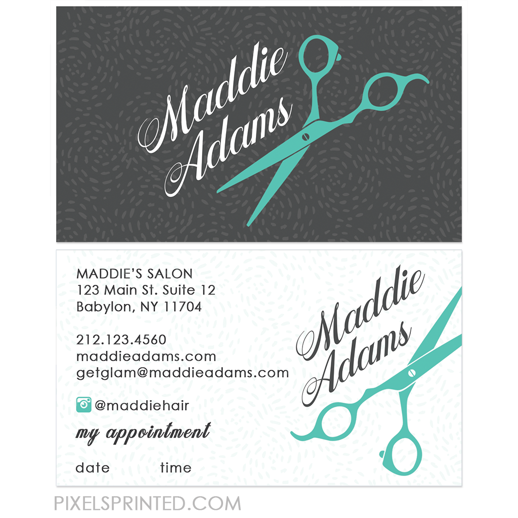 Hair Stylist Business Card Fitbo Wpart Co