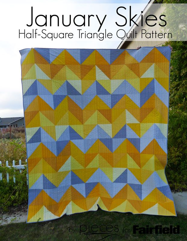Free Pattern Even Beginners Can Tackle This Queen Sized Half Square
