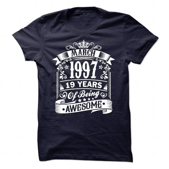 1997 AWESOME T Shirts, Hoodie. Shopping Online Now ==► https://www.sunfrog.com/Birth-Years/1997-AWESOME-93625829-Guys.html?41382