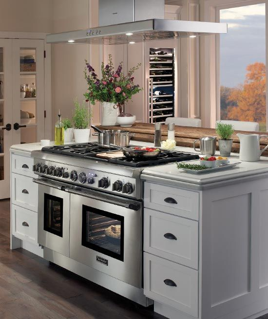 Top View Of A 24 Inch Depth Pro Harmony Range In A Kitchen Kitchen Design Kitchen Remodel Small Beautiful Kitchen Cabinets