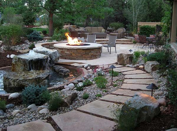 53 incredibly fabulous and tranquil backyard waterfalls for Low maintenance backyard