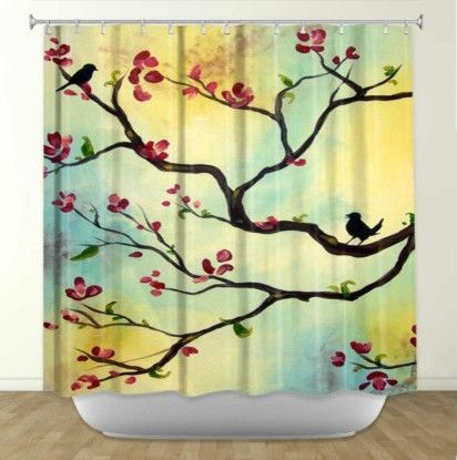 Asian Shower Curtain Sets Floral Shower Curtains