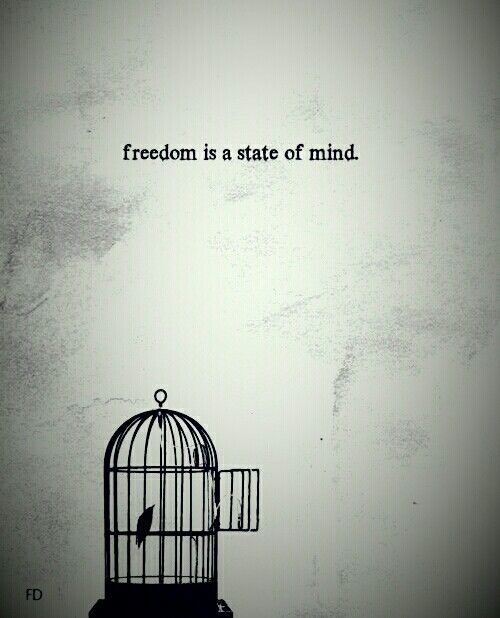 الحرية هي حرية العقل و الروح و ليست حرية الجسد فالكثير خسروا حرية اجسادهم و تركوا في التاريخ بصمات تعل Freedom Is A State Of Mind Positive Mind Mindfulness
