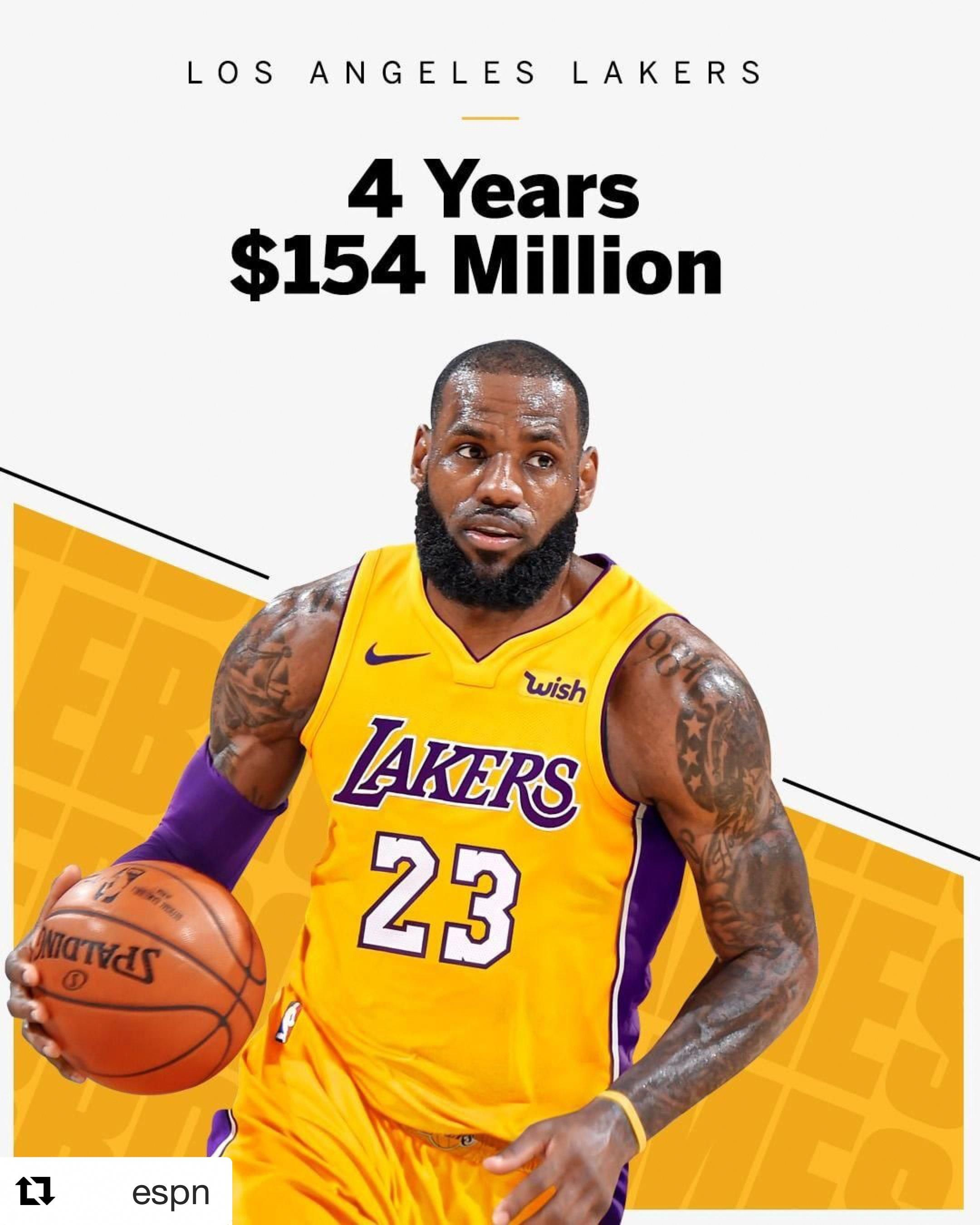 LeBron James signed with the LA LAKERS  probasketball  f9becd595