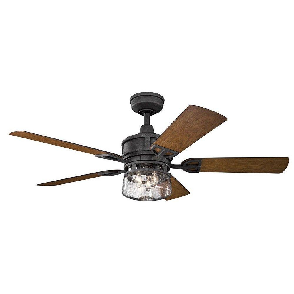Kichlerlighting Lyndon Patio 52 Ceiling Fan With Light Kit