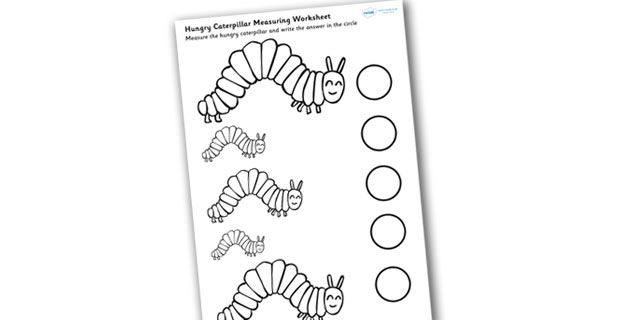 Twinkl Resources >> The Very Hungry Caterpillar Measuring