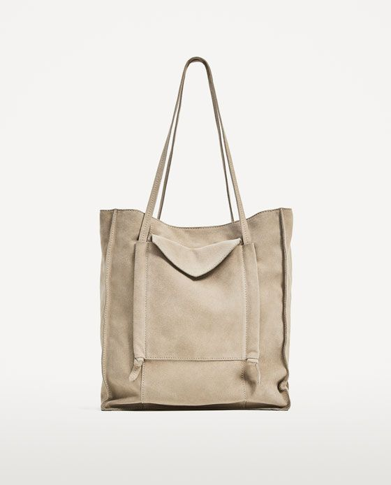 6f1f58264d Image 2 of SPLIT SUEDE TOTE BAG from Zara | Bags | Suede tote bag ...