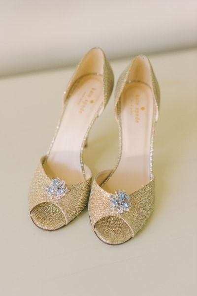 afb62cb8e084 Gold Kate Spade shoes  http   www.stylemepretty.com canada