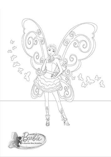 Barbie A Fairy secret- coloring page - barbie-movies Photo | Fairies ...