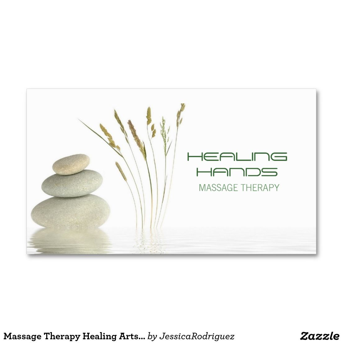 Massage Therapy Healing Arts Skin Care Business Business Card ...
