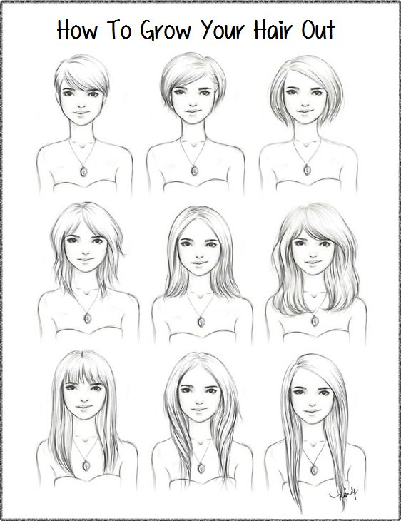 Good Guide For Growing Out If I Can Stand The In Between Stages Growing Out Hair Growing Out Short Hair Styles Hair Beauty