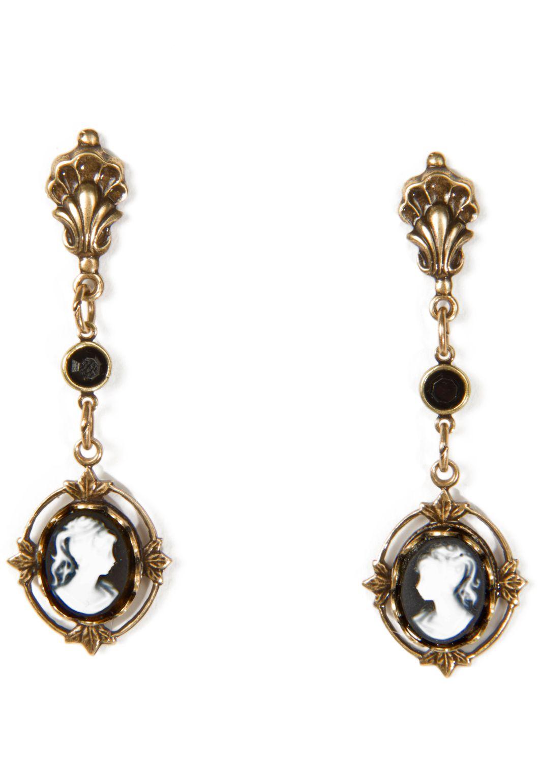 Boho Blue Earrings Victorian Heirloom Design Steampunk Gift