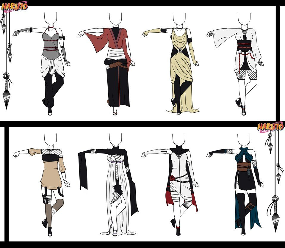 Top 40 Character Design Tips : Naruto adoptable outfit set closed by orangenbluete