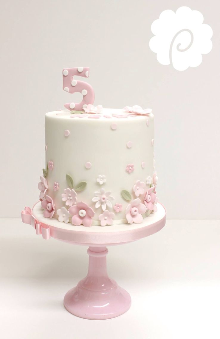 Pretty Pink Flowers Cake