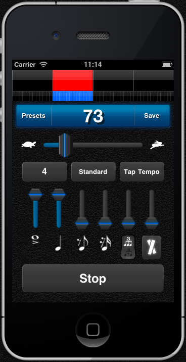 Subdivide Metronome App for iPhone, iPod Touch, and iPad