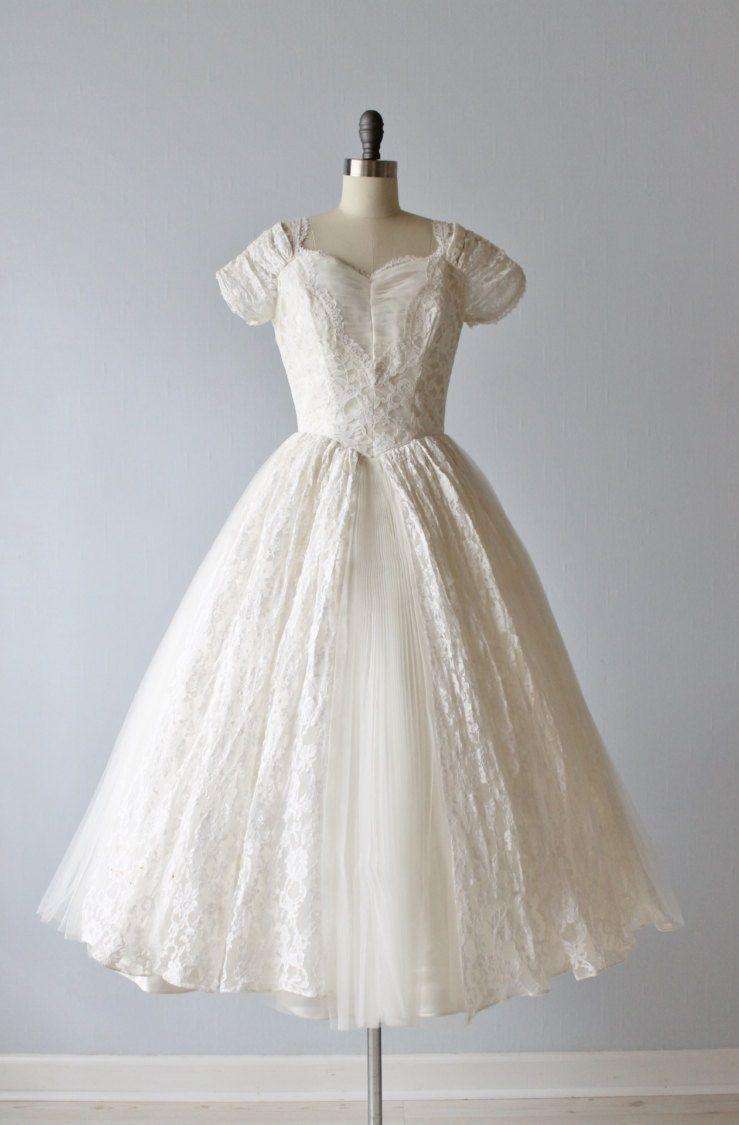 Tea Length 1950s Wedding Dress Country Wedding Gowns Short Wedding Dress Cute Girl Dresses [ 1125 x 739 Pixel ]