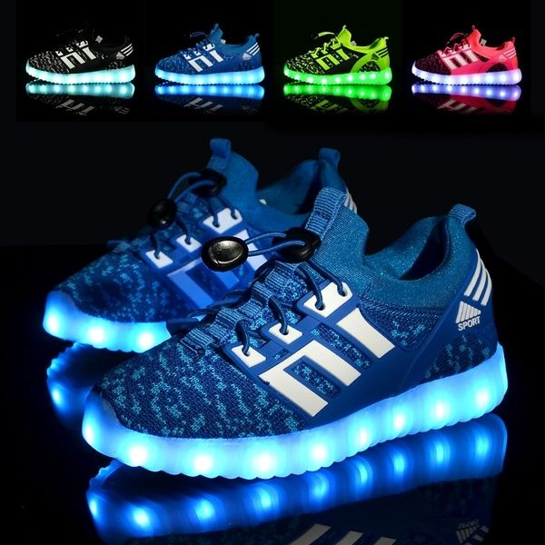 Kids Shoes LED Glowing Casual Sneakers Lighted Children Shoe With Lights