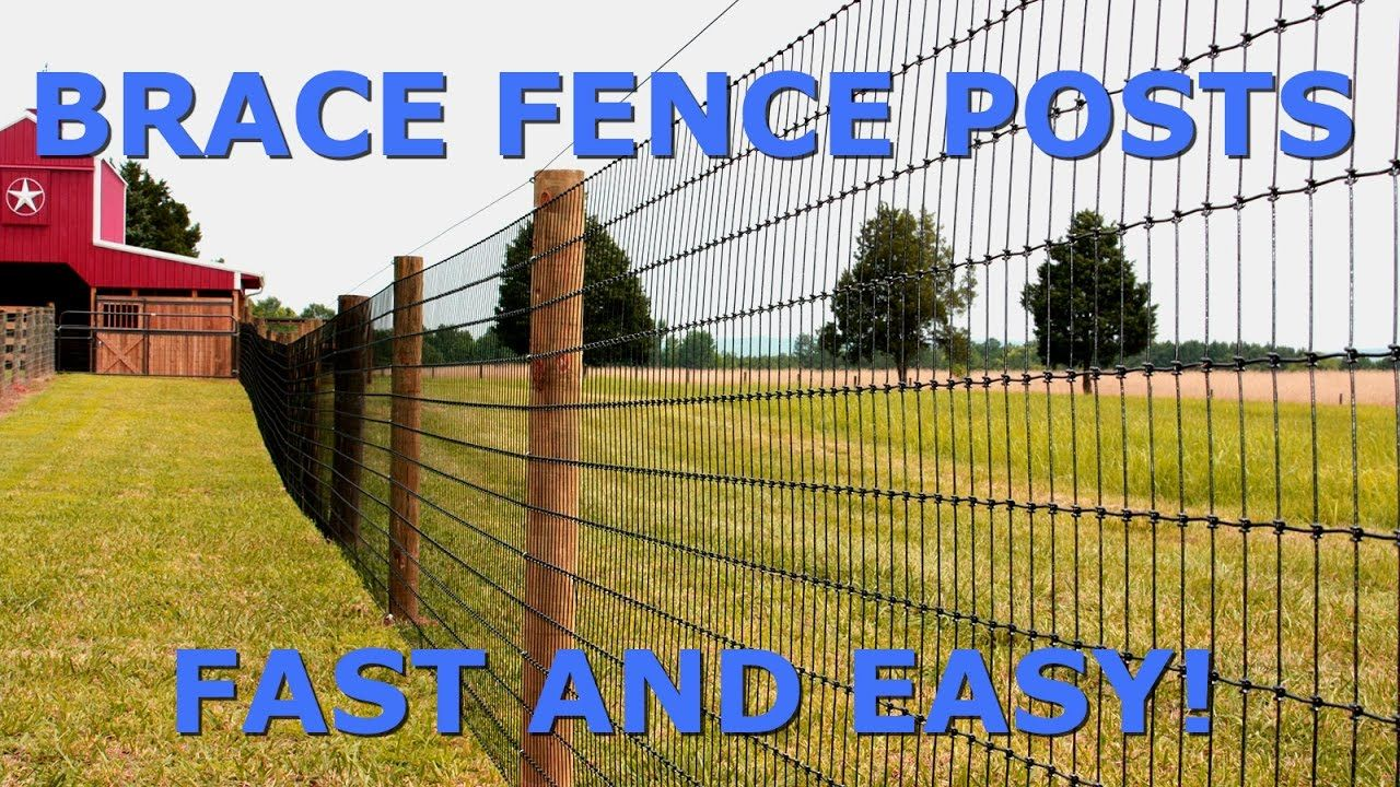 How To Brace Fence Posts Fast And Easy Fence Diy Fence Farm Fence