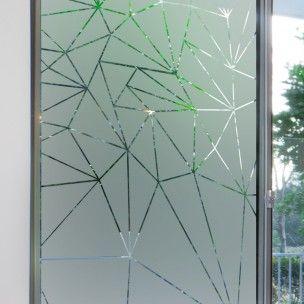 Sticker occultant pour vitres et fen tres motif prismes - Film occultant vitre ...
