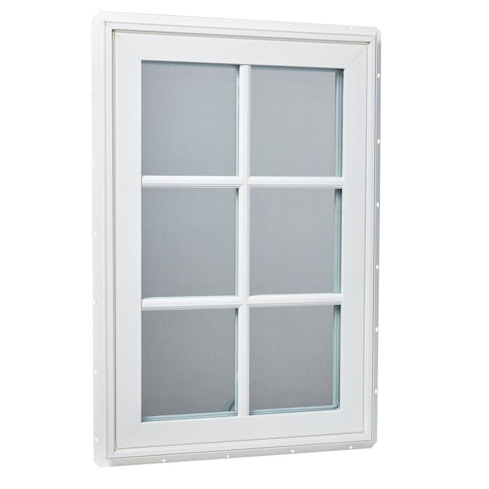 Tafco Windows 24 In X 36 In Right Hand Vinyl Casement Window With Sdl Outside Grids And Screen White Vcar2436 Osg The Home Depot Vinyl Casement Windows Casement Windows Casement