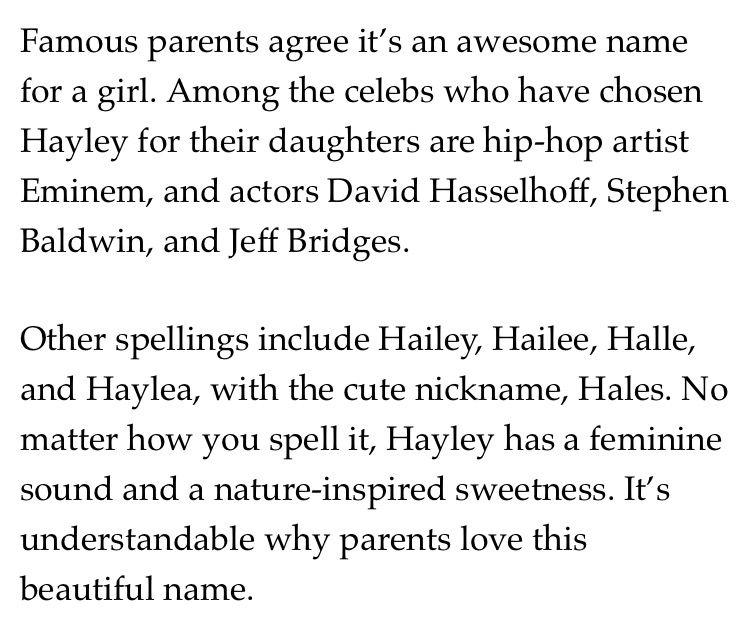 Hayley ❤️
