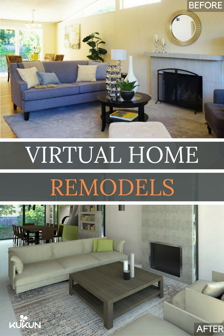 We put our cost estimation and Projected Home Value tools to work and the virtual renovation ended up with a projected total equity gain of $23380! & Check Out This $1.3 Million Home\u0027s Virtual Remodel | Living Room ...