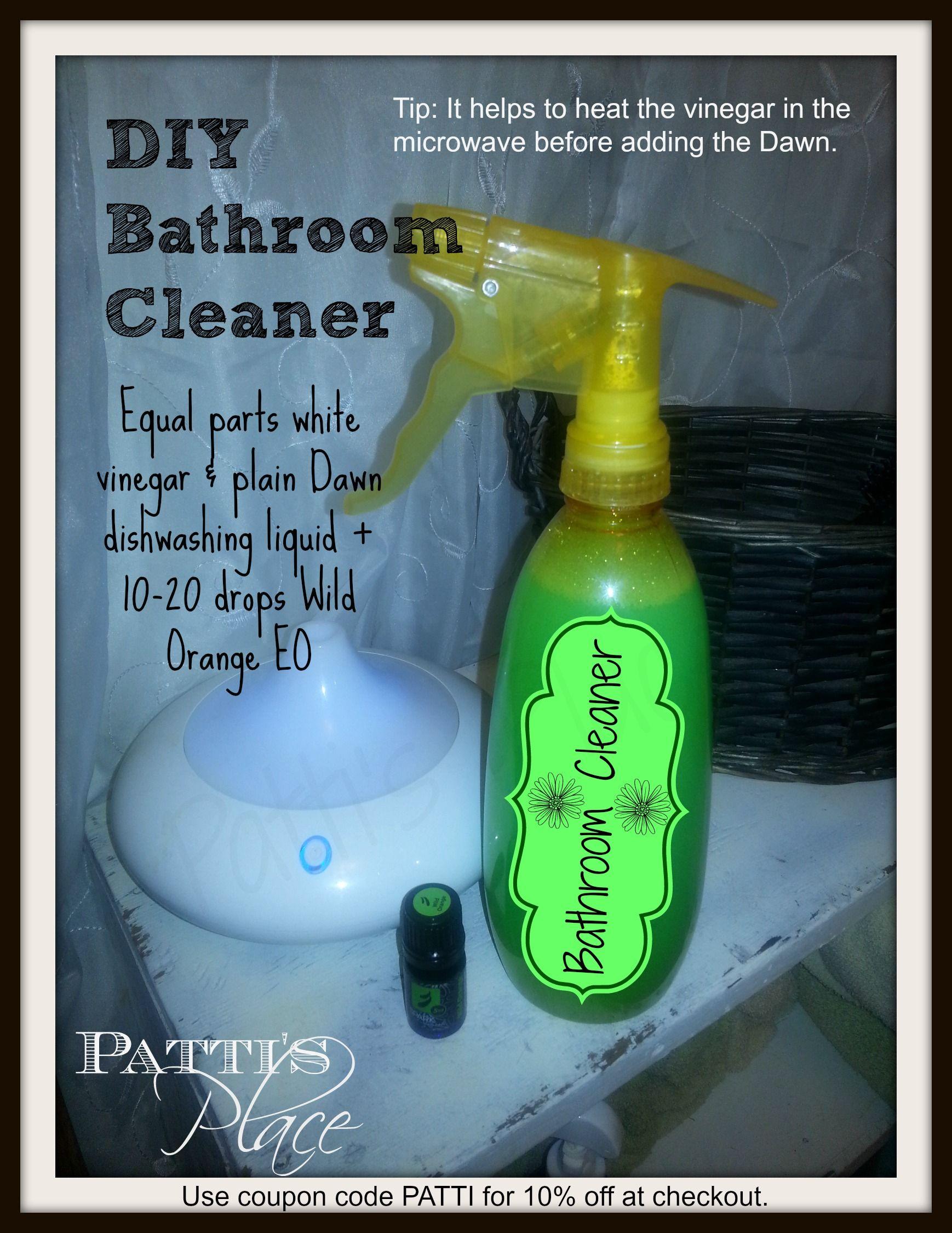 Bathroom Cleaner white vinegar, Dawn dishwashing liquid ...
