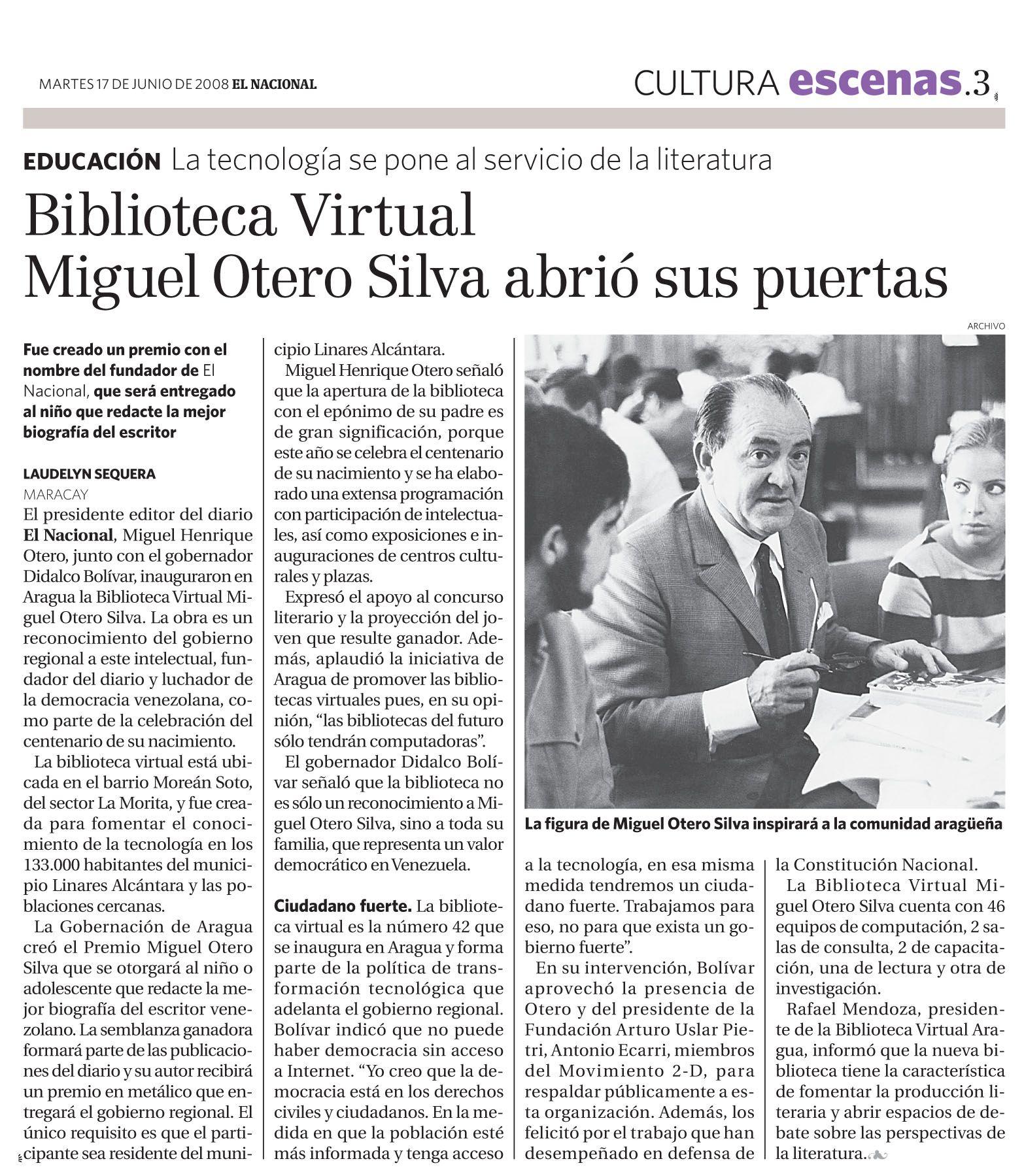 Publicado por El Nacional el 17 de junio de 2008
