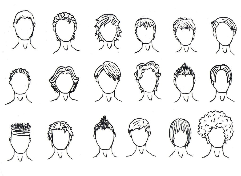 Boy Hair Drawing