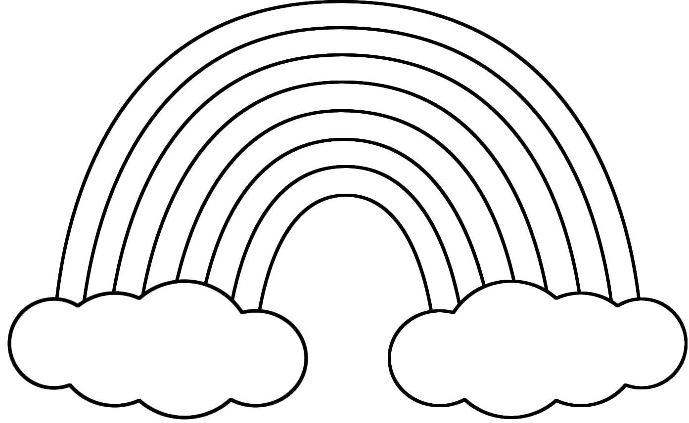 St. Patrick\'s Day Rainbow Coloring Pages | Clip Art | Pinterest