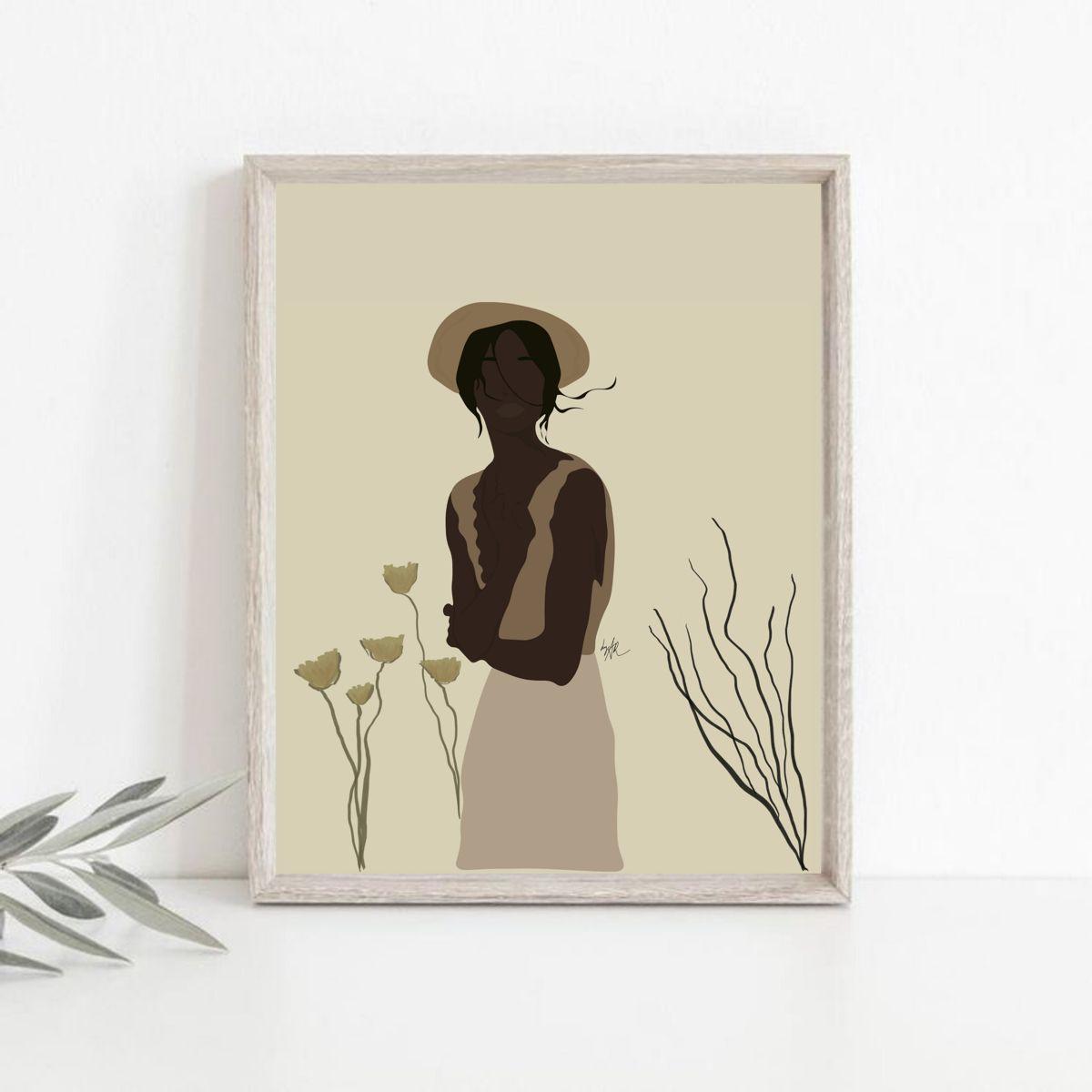 #womanillustration #womanportrait #digitalillustration#digitalart #print #decor #walldecor #bohoprints #bohoinspo #bohowoman #shopprints #printsforsale #decoration#inspo #homedecor #decor #wallart #wallprints #decorationideas