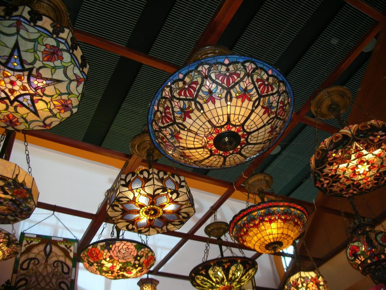 Tiffany Lamps Lighting Unique And Ethnic Combination Home Decoration