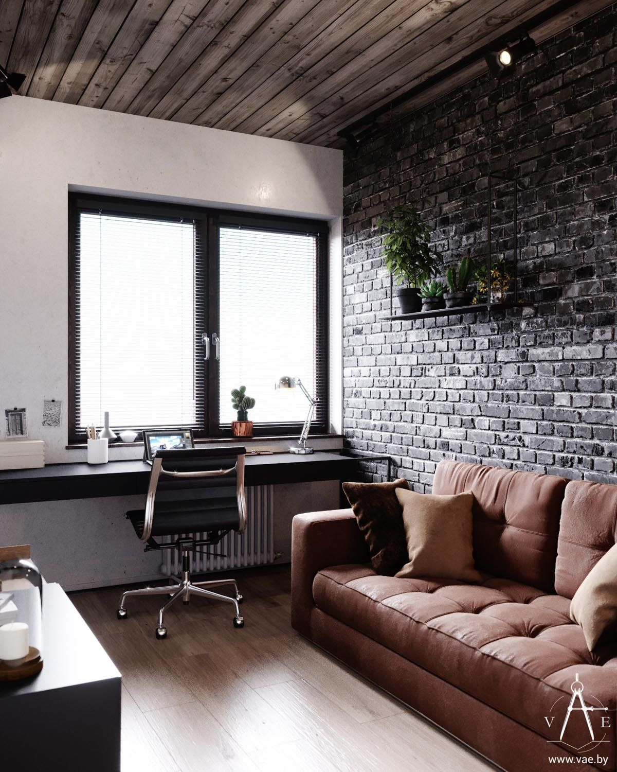 Photo of Warm Industrial Style House (With Layout)
