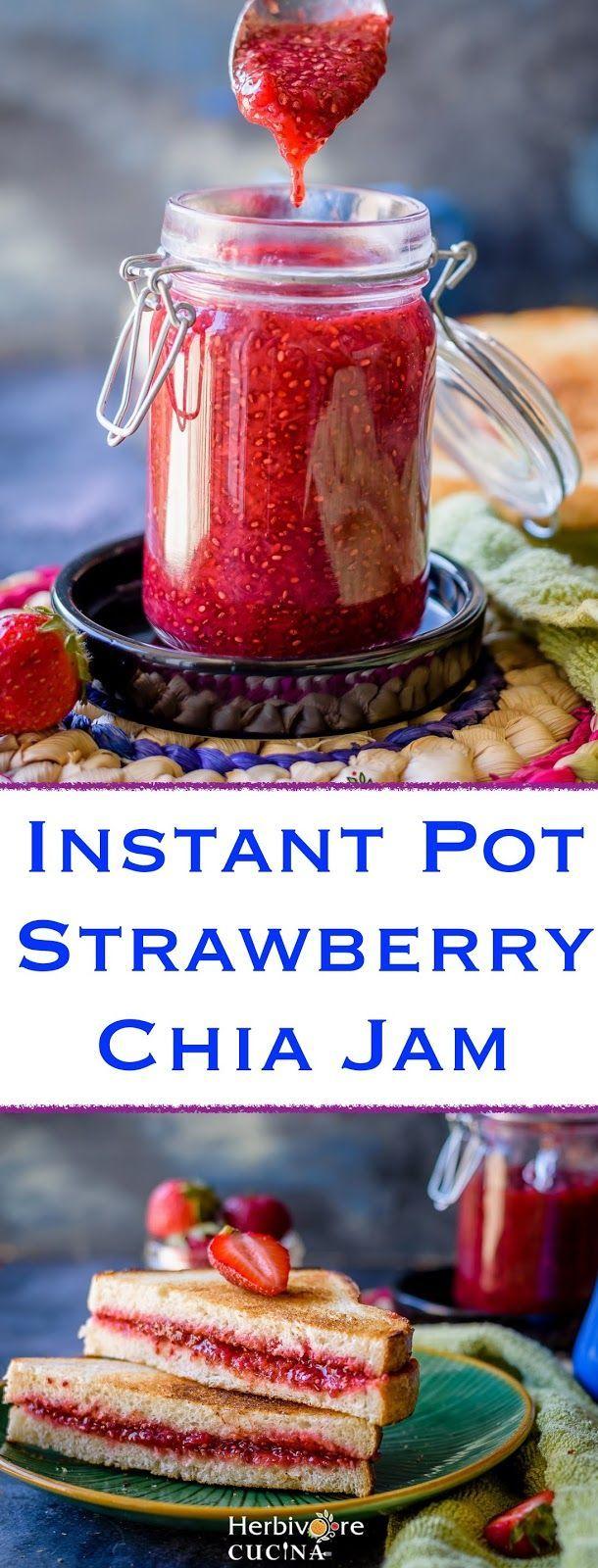 Instant Pot Strawberry Chia Jam