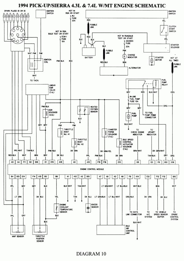 gmc truck wiring diagram  schematic wiring diagram series