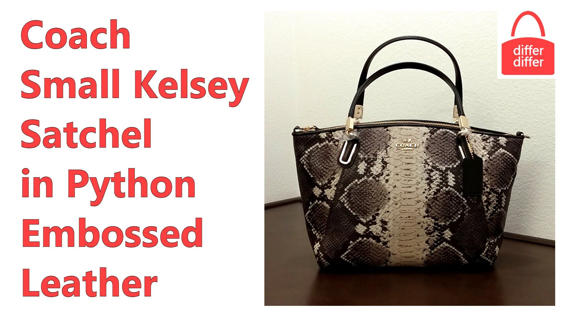 b78513469dd8 Coach Small Kelsey Satchel in Python Embossed Leather 36382 ...