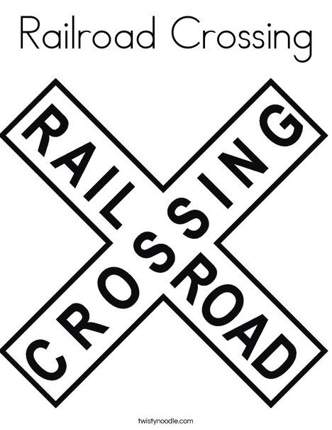 Railroad Crossing Coloring Page Train Coloring Pages Birthday Coloring Pages Thomas The Train