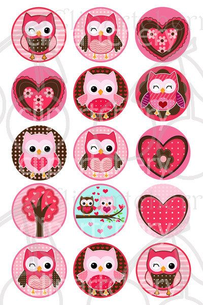 valentine cute owls 1 inch digital circles design 4x6 15 images 4 x6 sheet filofaxing. Black Bedroom Furniture Sets. Home Design Ideas