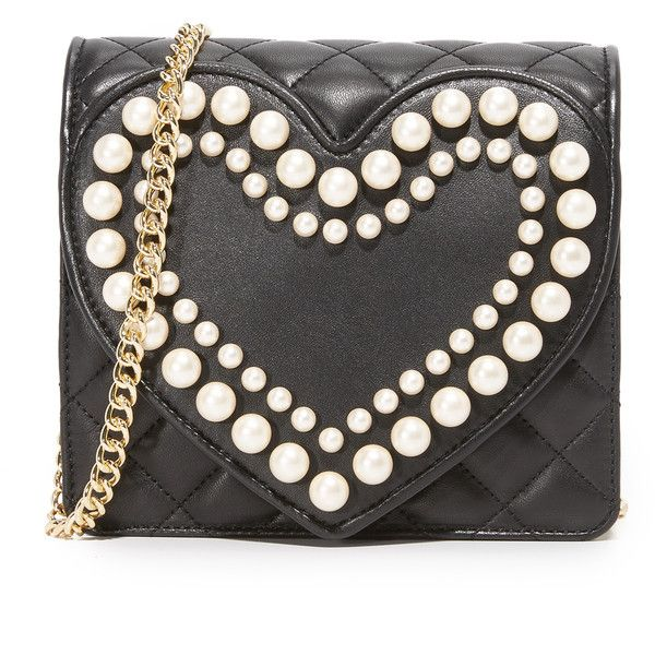 Boutique Moschino Quilted Cross Body Bag (47,315 INR) ❤ liked on Polyvore featuring bags, handbags, shoulder bags, quilted handbags, cross body, quilted crossbody, crossbody shoulder bags and cross-body handbag