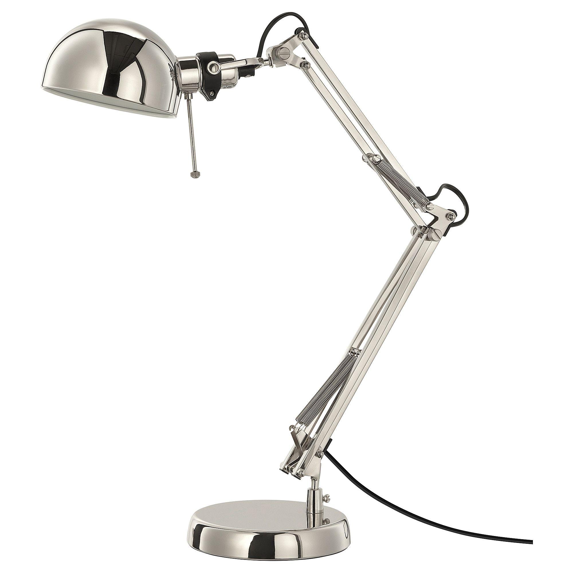 Forsa Lampe De Bureau Nickele Ikea In 2020 Arbeitsleuchte Schreibtischlampe Led Lampe