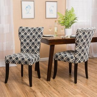 Shop For Christopher Knight Home Cecily Fabric Geometric Print Amusing Patterned Dining Room Chairs Review