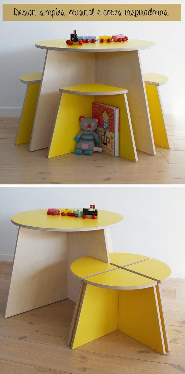 Mobiliário-infantil | butacos | Pinterest | Madera, Infantiles y Mesas